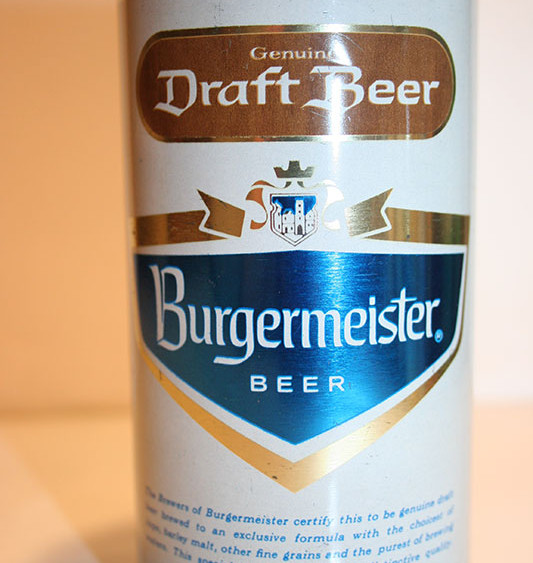 Burgermeister Draft Beer Beercan World